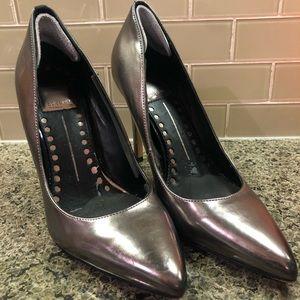 Dolce Vita Metallic Silver Heels